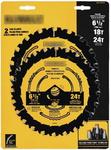 DeWALT DWA1612CMB Пильные диски 6-1/2-Inch 18/24