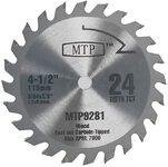 MTP9281 Пильный диск по дереву 115 мм. 24Т